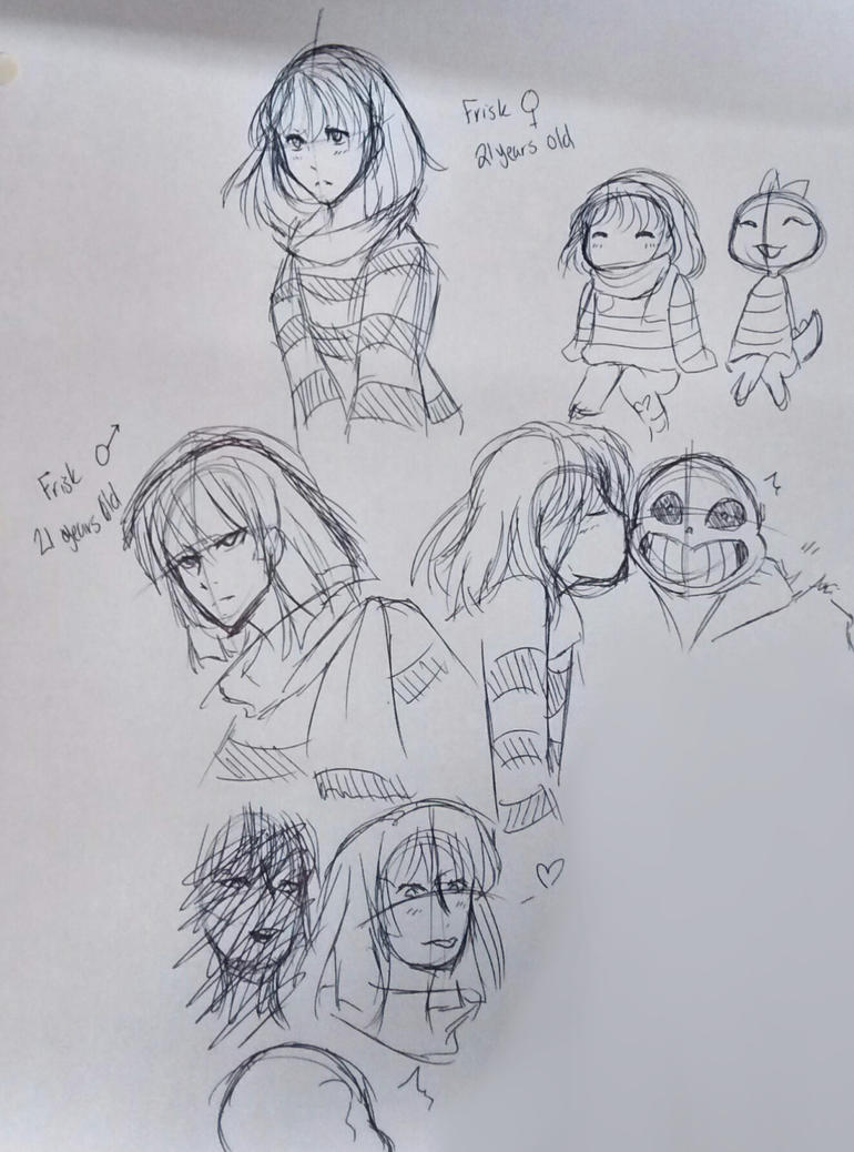 [UNDERTALE] Frisk Sketches by Maxx2DXtreame
