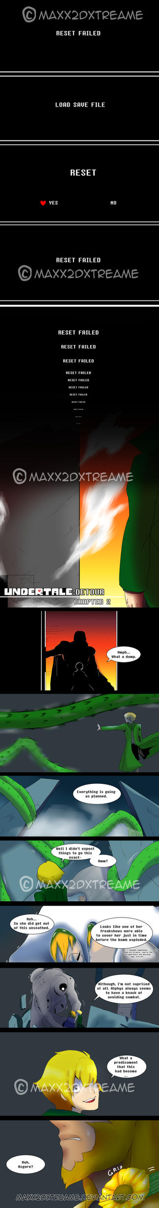 [UNDERTALE] Detour Pg 16 Chapter 2 by Maxx2DXtreame