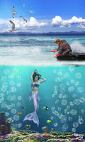 Mermaid by RebeccaLongArt