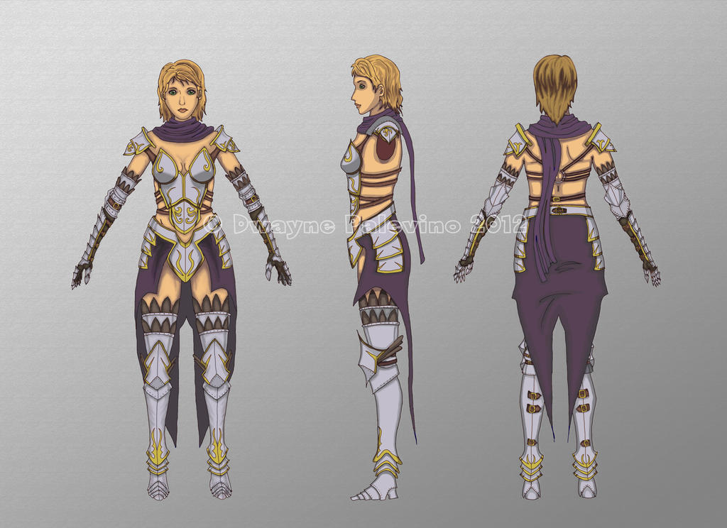 Avelyn Character Model Sheet By Dpalev9