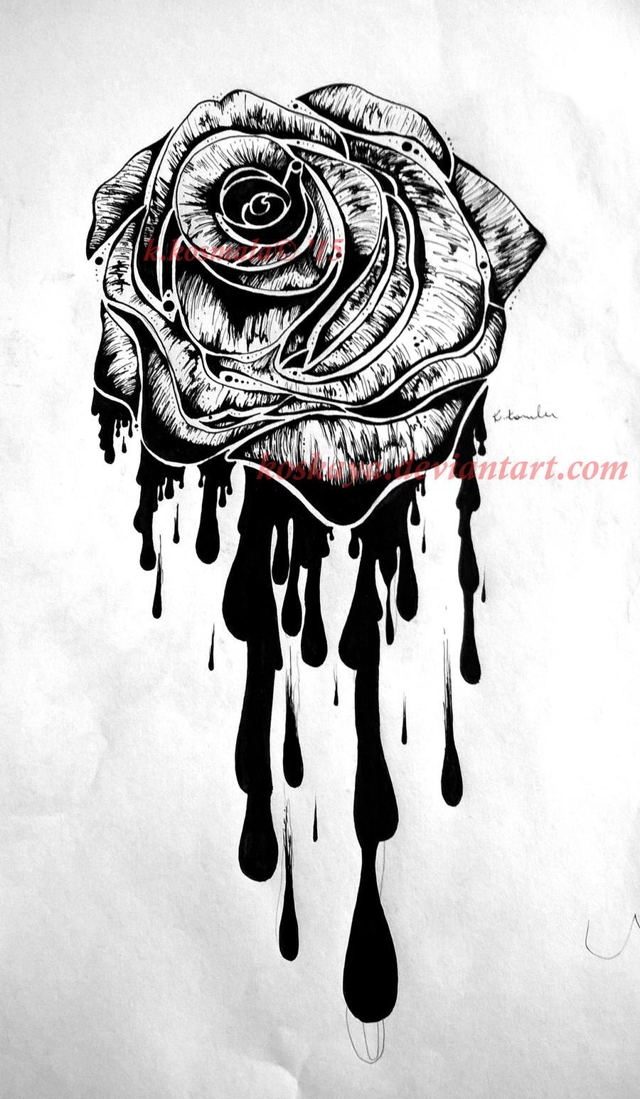 Rose (tattoo design) by koskaya on DeviantArt