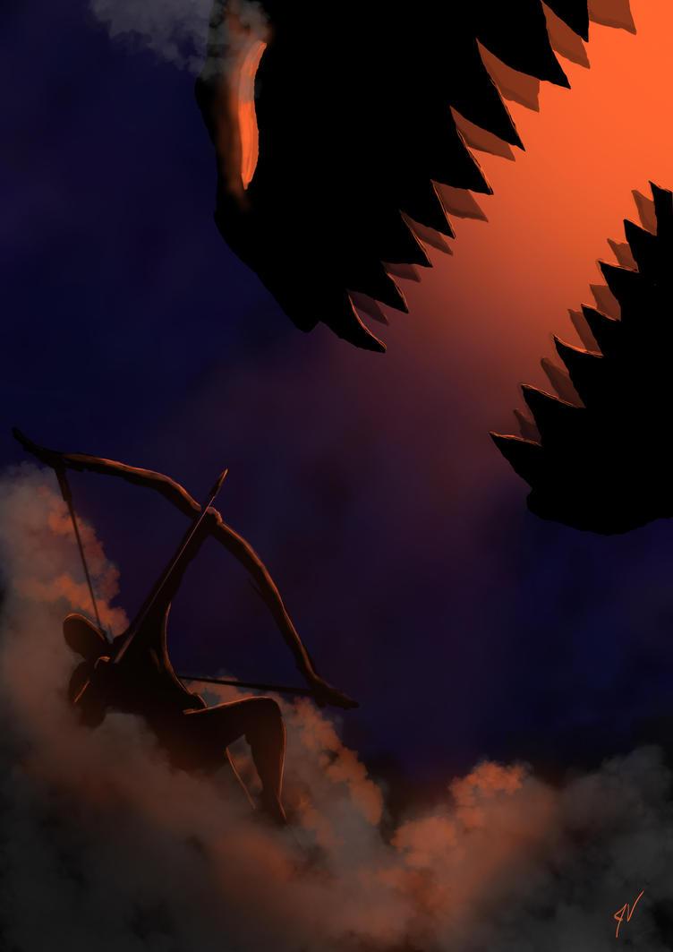 Archer vs monster by Malkel
