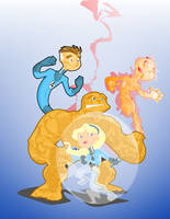 fantastic four by kevtoons