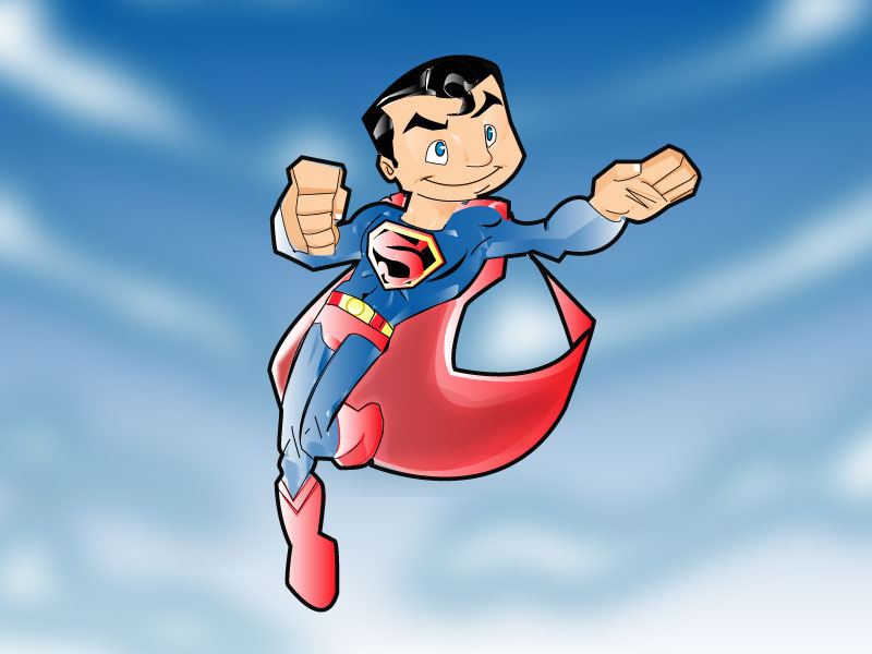 superman by kevtoons