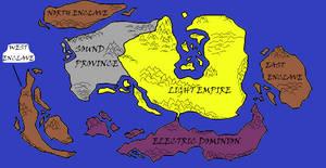 Map of the Western Hemisphere