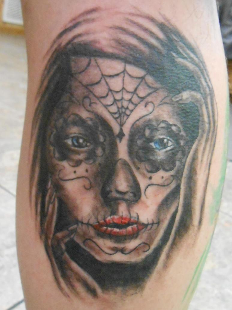 Mujer de dia de los muertos tattoo by goldfish bloop on for Dia de muertos tattoos