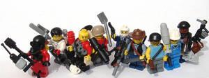 Team Fortress 2 LEGO minifigures