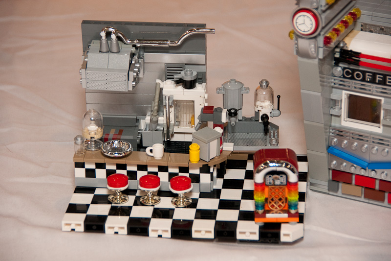 Exterior wall art ideas - Lego Diner Interior Removed By Mister Oo7 On Deviantart