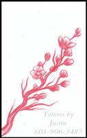 cherry blossom branch by jacksonmstattoo