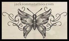 Butterfly tattoo design by jacksonmstattoo