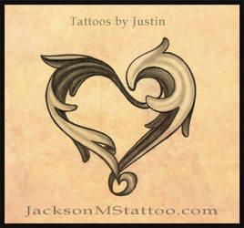 heart tattoo design by jacksonmstattoo