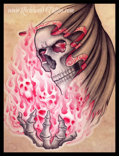 Grim Reaper Tattoo Design by jacksonmstattoo