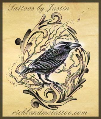 raven tattoo design by jacksonmstattoo on deviantart. Black Bedroom Furniture Sets. Home Design Ideas