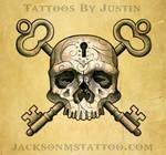 Skull and Key Tattoo Design