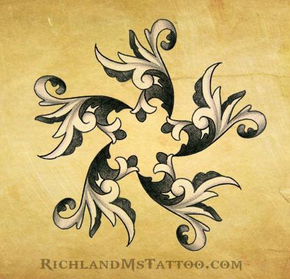 filagree swirl star tattoo design by jacksonmstattoo on deviantart. Black Bedroom Furniture Sets. Home Design Ideas
