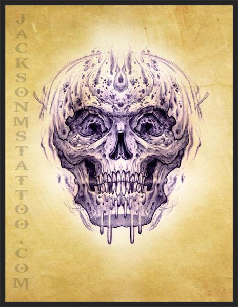 jackson ms skull tattoo design by jacksonmstattoo on deviantart. Black Bedroom Furniture Sets. Home Design Ideas