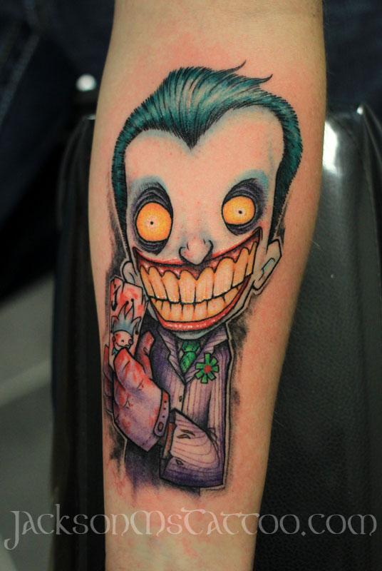 JokerBatmanComicTattoo by jacksonmstattoo