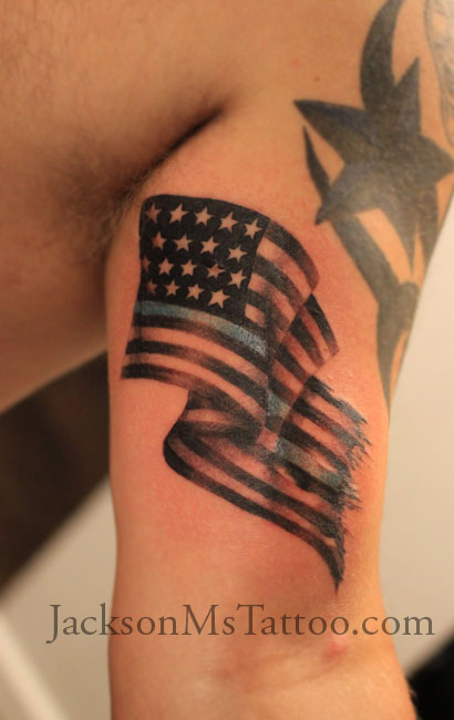 Americanflagtattoosouth by jacksonmstattoo