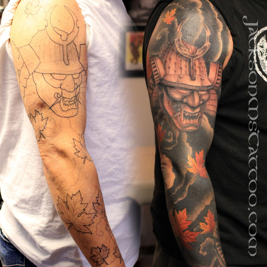 Samurai sleeve tattoo ink injection mississippi by for Random tattoo sleeve