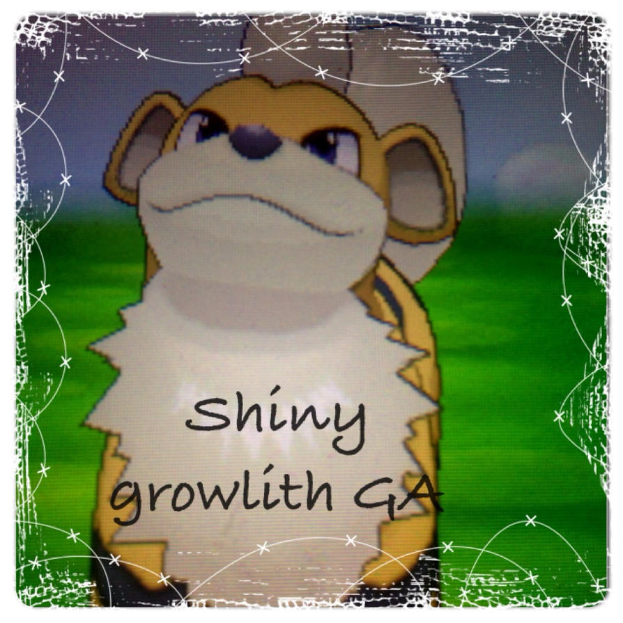 Shiny Growlith Ga by Sharkbeats