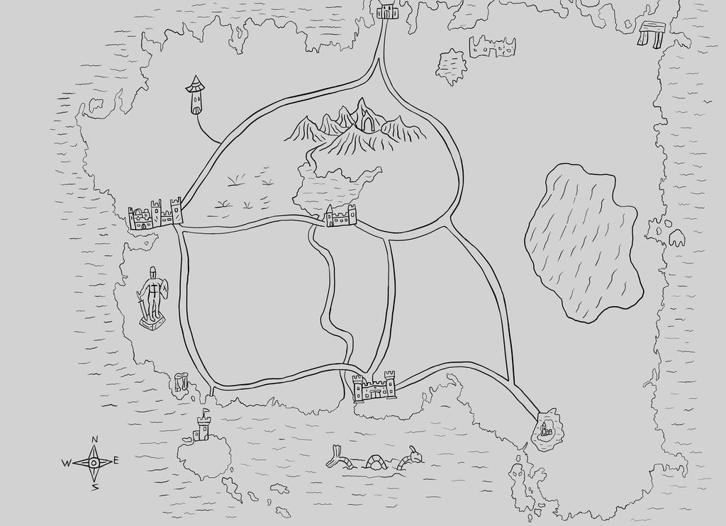 Fantasy Map by DarthHaven