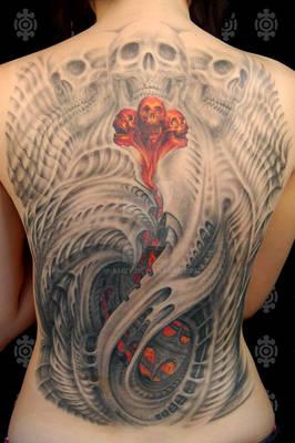 Jessica's back tattoo.