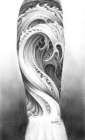 Water tattoo design