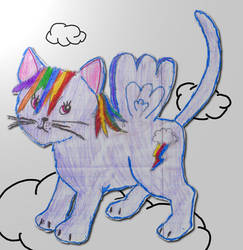 Rainbow cat by Kaora-Kasuga