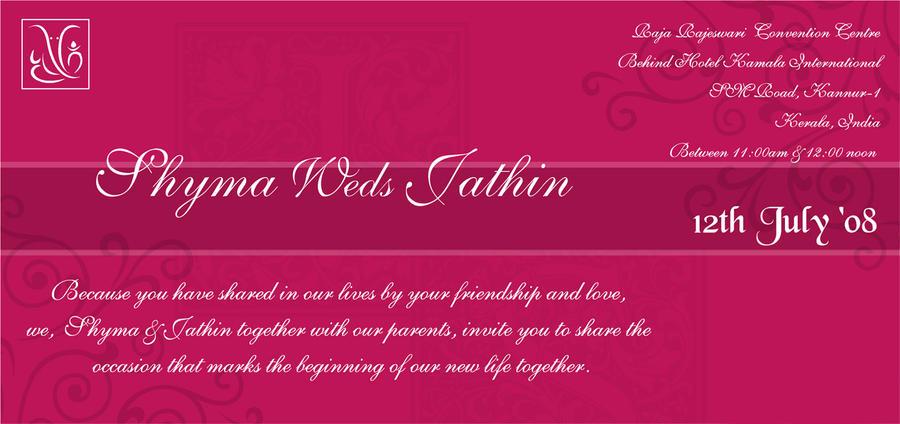 Electronic Wedding Invitation: My Wedding Invitation -ecard By SilentNoise0684 On DeviantArt