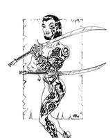 Indigo Rose pencils by POWERSMITH2