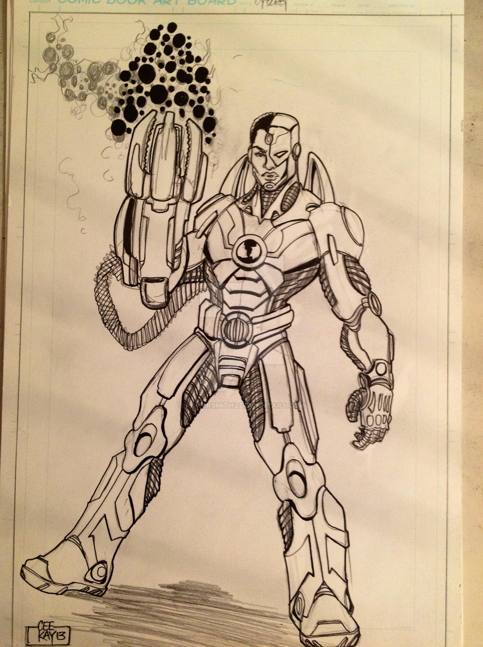 Cyborg of the Justice League by POWERSMITH2