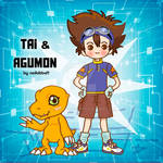 Tai and Agumon fanart