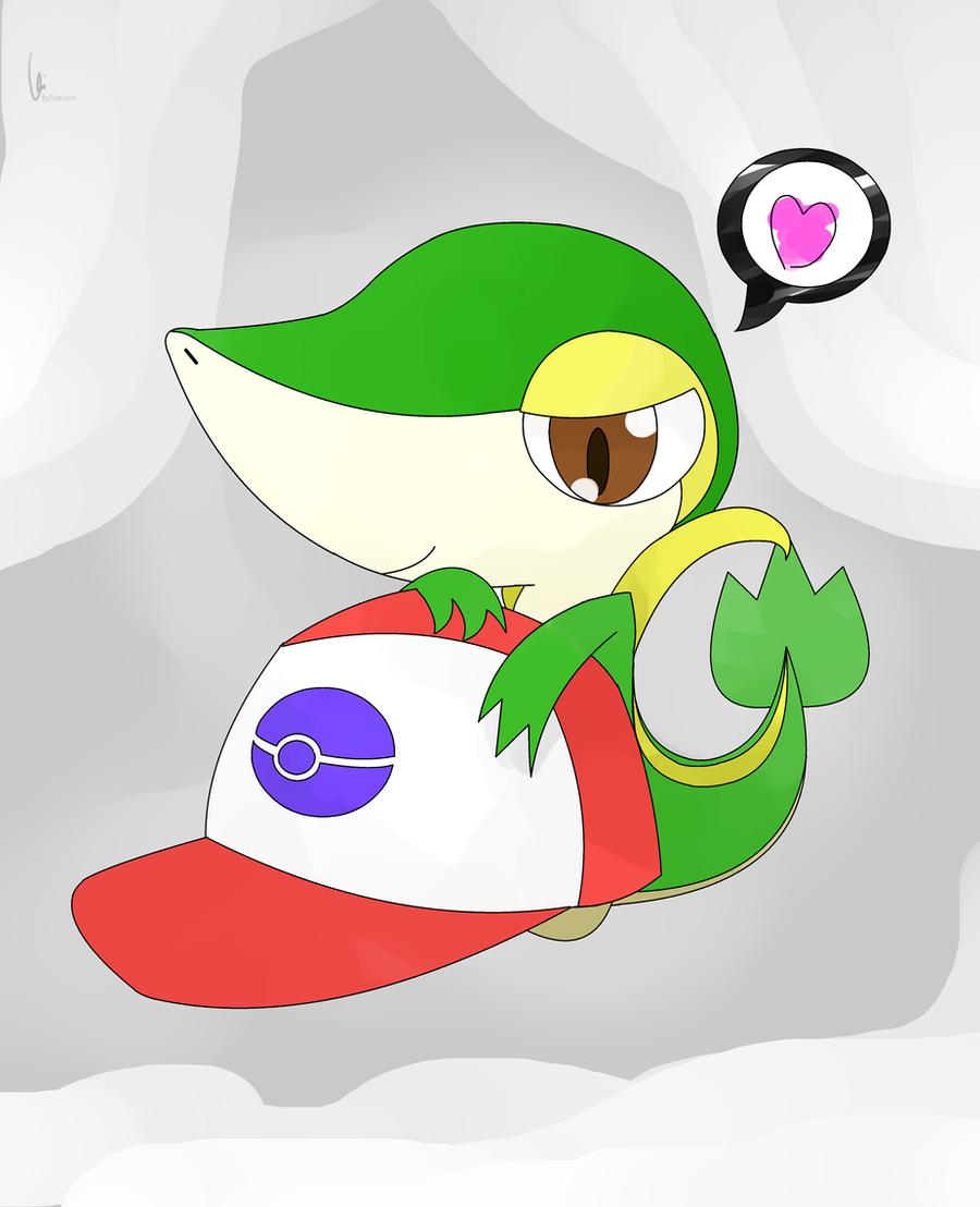 Pokemon ash x latias snivy with ash cap by
