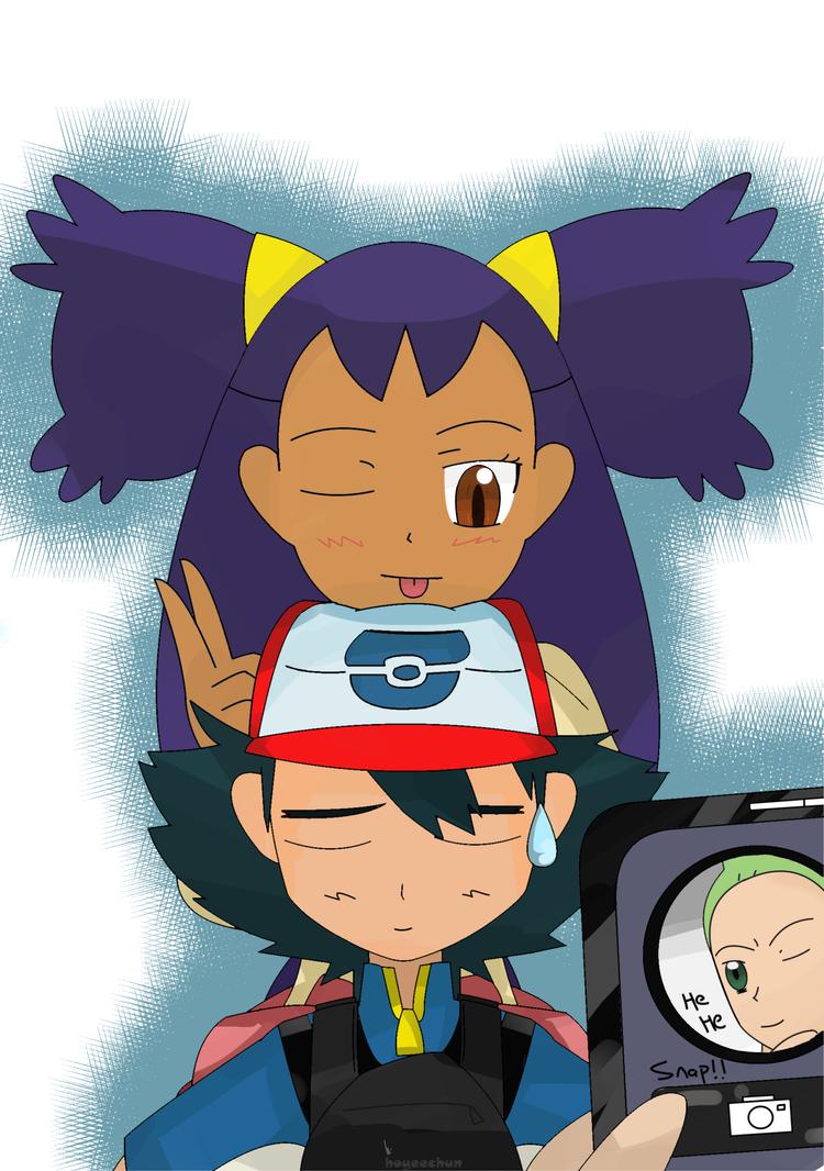 Ash kiss iris pokemon ash and iris kiss ash carrying iris by hoyeechun
