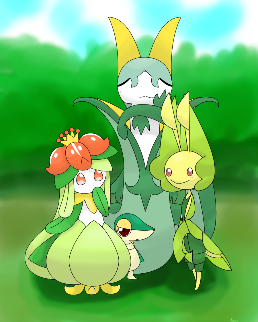 Lilligant leavanny snivy and serperior by hoyeechun on ...