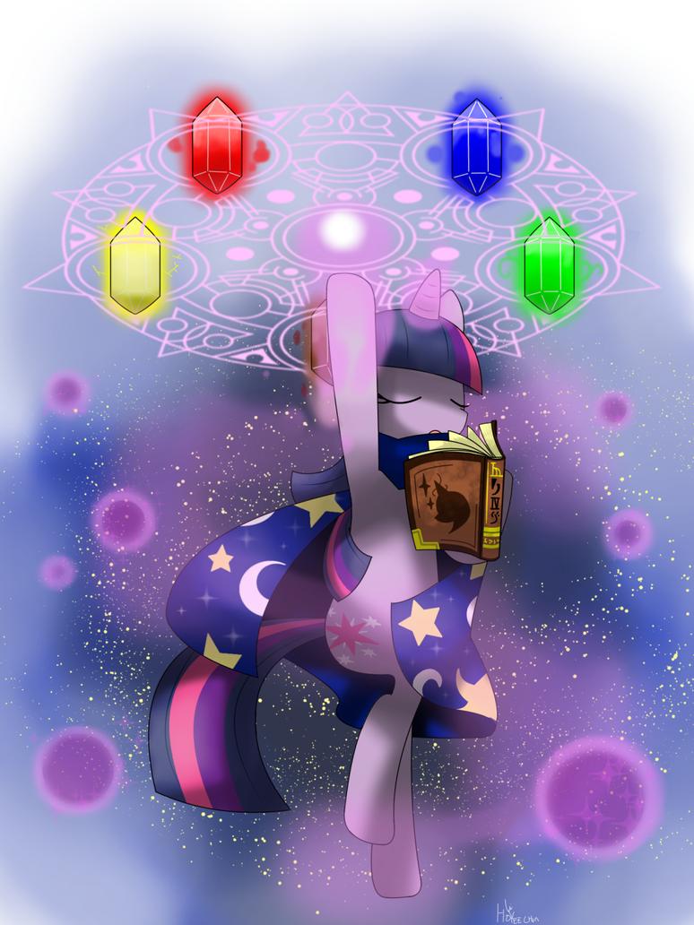 twilight sparkle  magic by hoyeechun