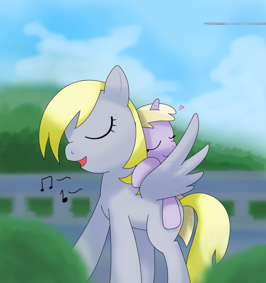 derpy and  dinky doo by hoyeechun