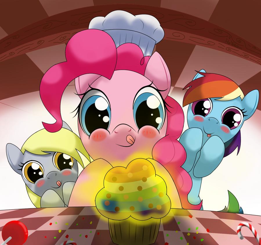 mnnnn rainbow muffin~~~!!! by hoyeechun