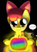 dat rainbow apple by hoyeechun
