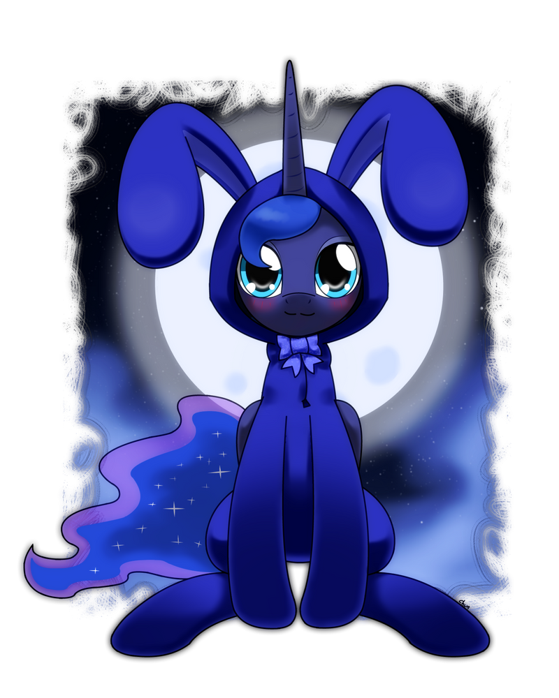 luna in bunny suit by hoyeechun