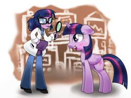 eqg world twilight and pony twilight by hoyeechun