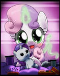 sweetie belle -rarity plushies making