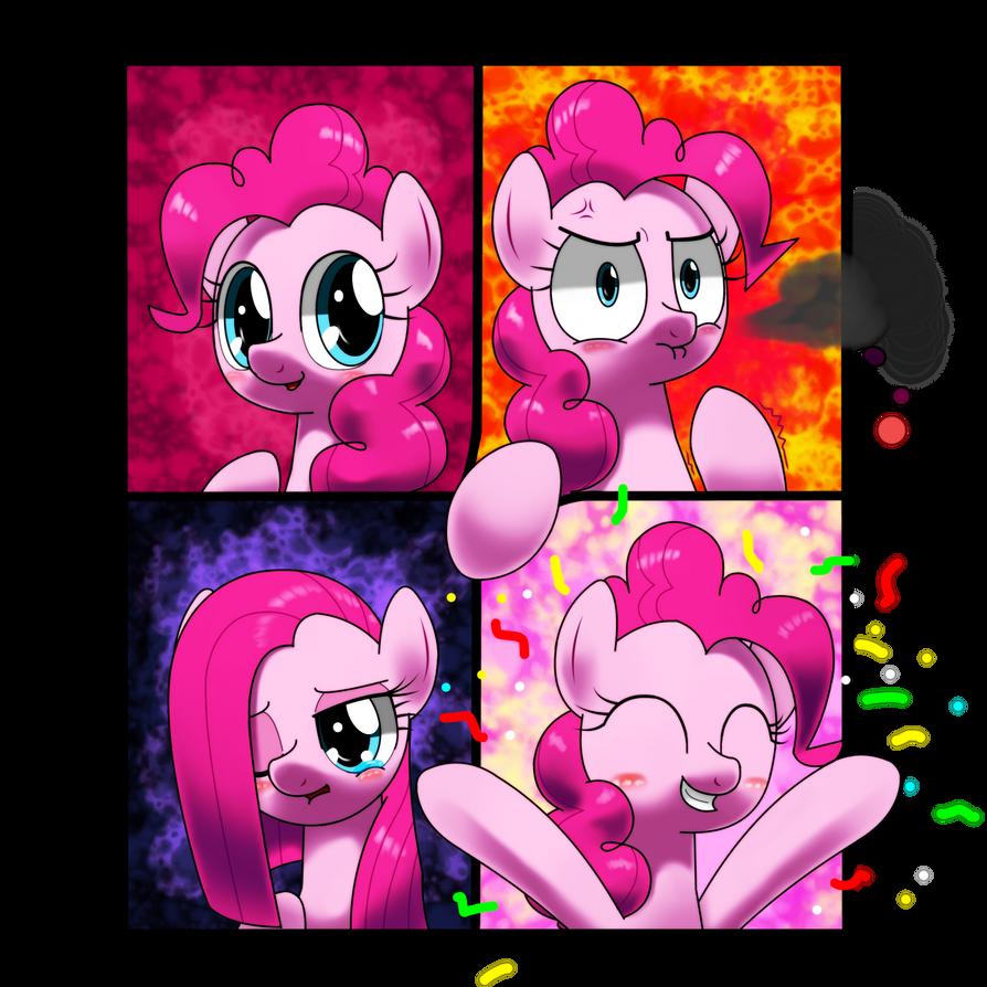 happy , angry, sad , joyous pinkiepie by hoyeechun