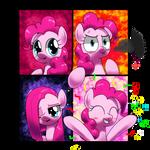 happy , angry, sad , joyous pinkiepie