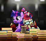 two little book horse