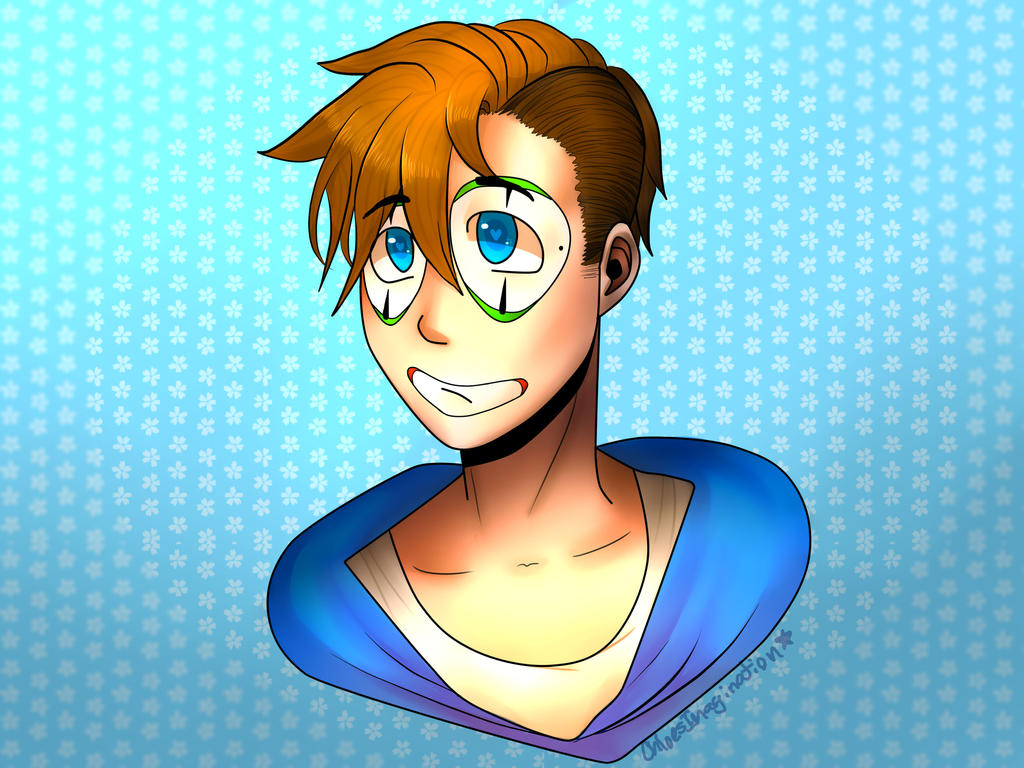 h2o delirious new hairstyle (test drawing) by ... H20 Delirious Fan Art