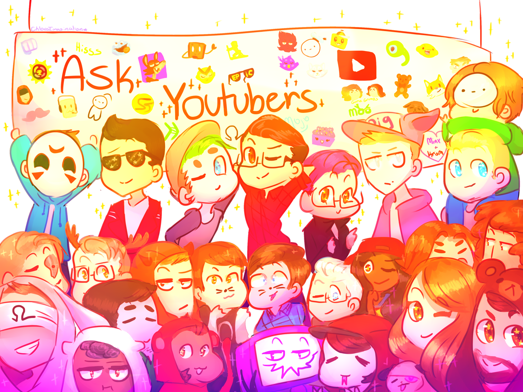 [speedpaint] Ask Youtubers by ChloesImagination