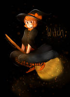 [speedpaint] Youtubers: Drawlloween #16 Witch by ChloesImagination
