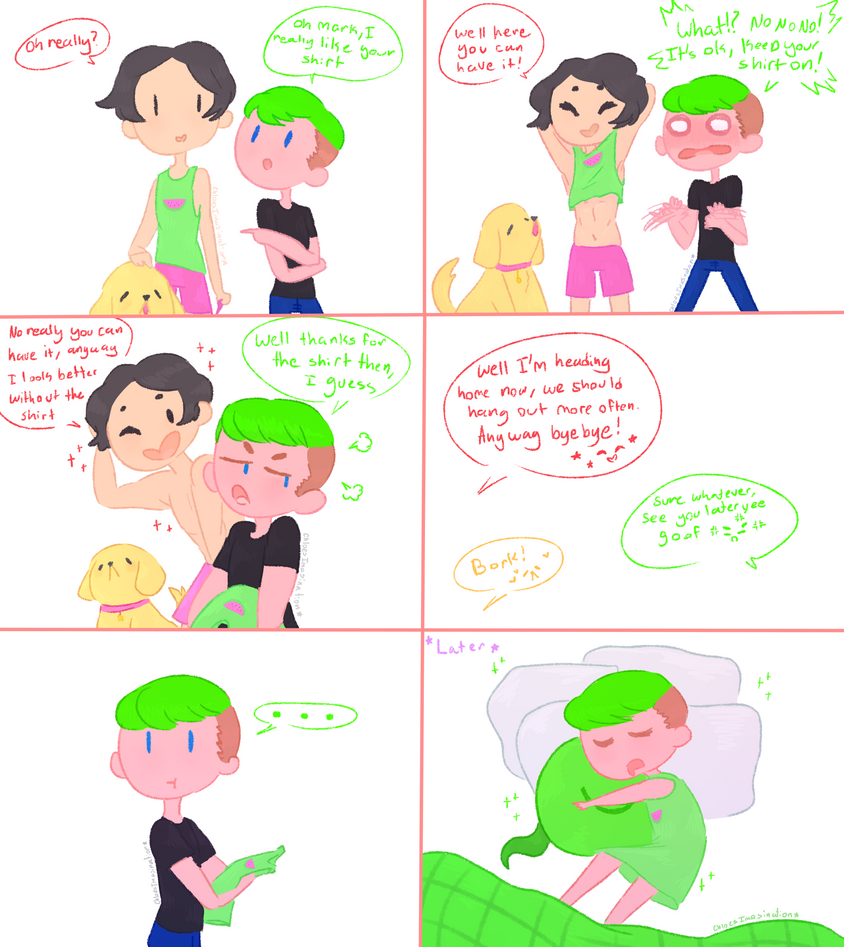 Quick Septiplier comic: Shirt by ChloesImagination