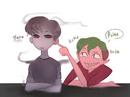 Poke [Dark And Anti doodle] by ChloesImagination